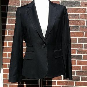 J. Crew Wool Black Blazer with Inside Pocket